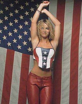 Britney is also very patriotic.