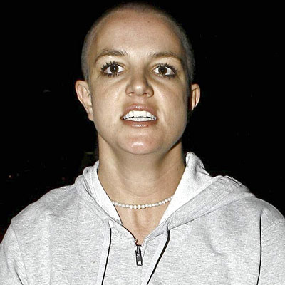Yikes! Britney Bald! Well, I guess she showed us.