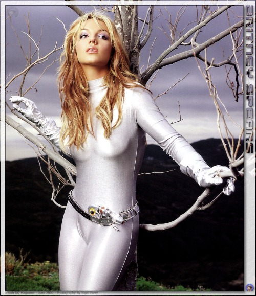 Britney Spears in a Silver Cat Suit