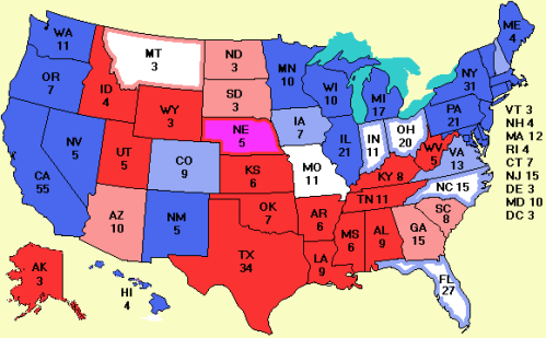 Obama Takes The States. This Election Means Obama Wins in 2012.