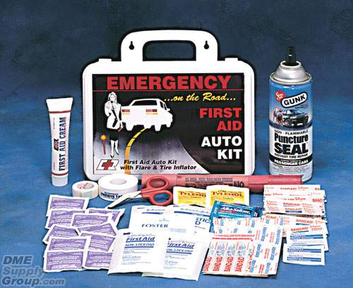 A useful Emergency First Aid Auto Kit from Complete Medical