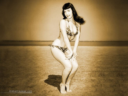 More Bettie Page on the Beach. She is What God Made Beaches For. Seriously.