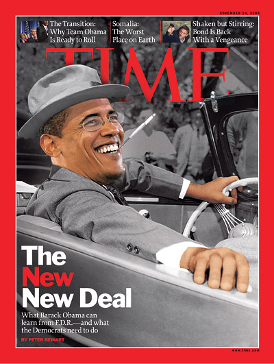 Barack Obama as FDR. A Democrats Wet Dream. Sort of like Chairman Mao for The Rest of Us.