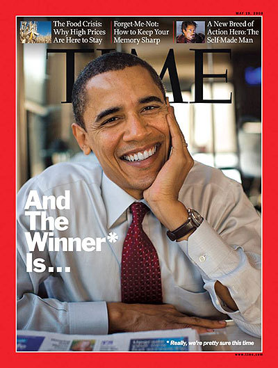 Barack Obama has graced the cover of Time Magazine many, many times. All of them flattering.