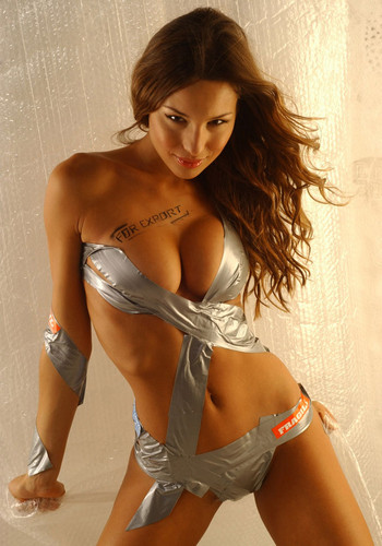 Carolina Pampita Ardohain? That Is Her Full Name? Duct Tape Still Super Hot.