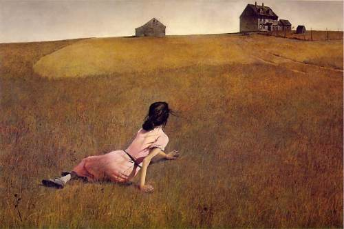 Christinas World, by Andrew Wyeth. I love this picture. And so did my art history teacher, who went on and on about it.