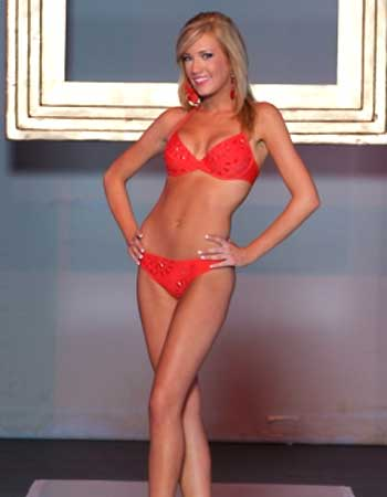 And here is Katie Rees in a Bikini. Still not as cute as Heather Locklear.