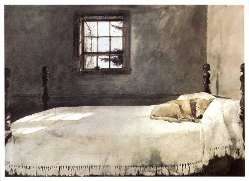 Master Bedroom, by Andrew Wyeth.