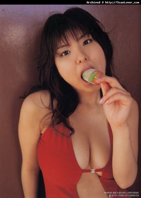 Miri Hanai Eating A Popsicle. Wonder What That Is Supposed To Make Us Think About. Hmmm.
