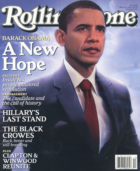 Rolling Stone Calls Barack The New Hope. Oh, Joy.