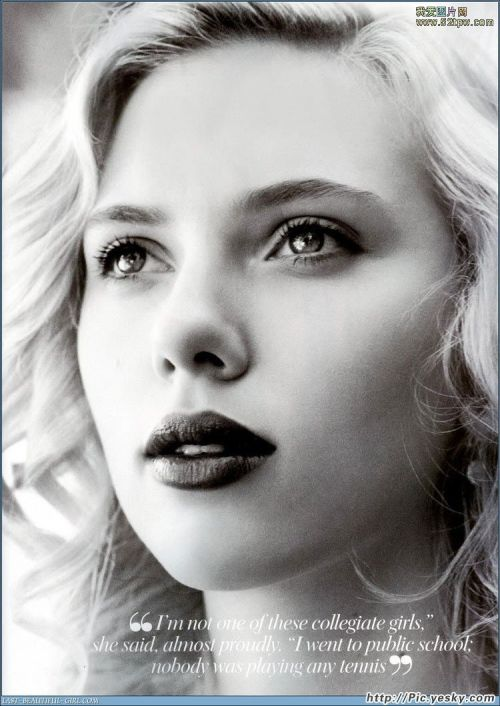 Statuesque. Classic. The Embodiment of Woman. That is Scarlett Johansson.