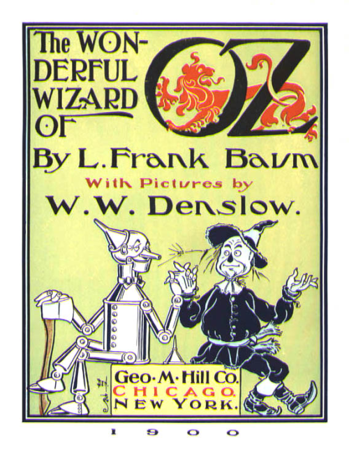 One of the Early Editions of L. Frank Baums The Wonderful Wizard of Oz.