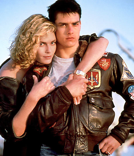 Kelly McGillis and Tom Cruise, Both Looking Young and Hot in Top Gun.