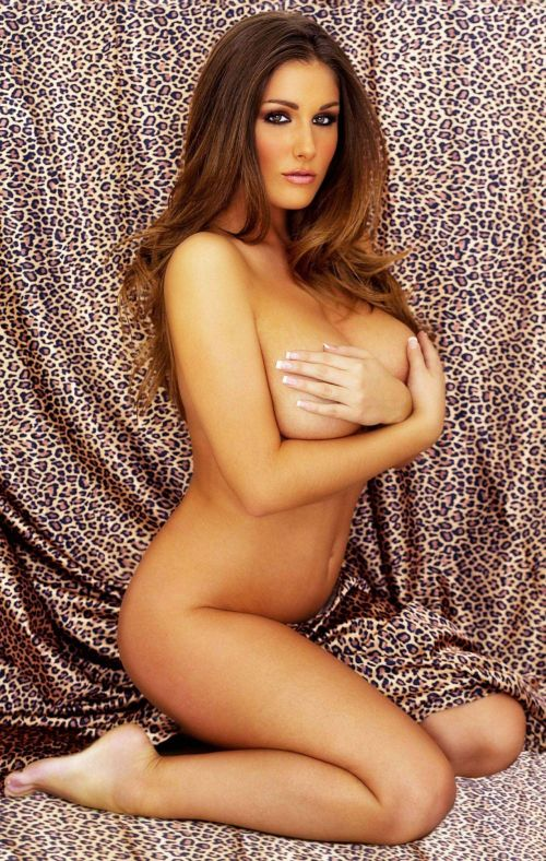 Lucy Pinder, Half-Naked and Grabbing the Melons. Good, Clean Living.