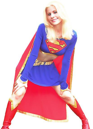 Another Pretty, Midriff Baring Supergirl.