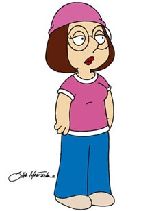 Meg finds God on Family Guy.