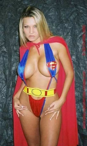 Supergirl Half-Naked.