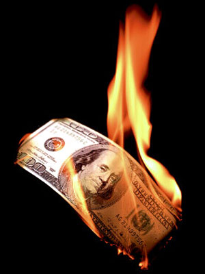 Want to Burn Money? Better to set fire to it than gamble online. I'm just sayin'.