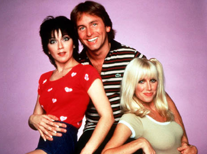 There's Joyce with tje late John Ritter and the Thigh Master.