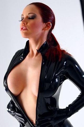 Bianca Beauchamp Busting Out of Tight Latex. Mmmm. She's just so cute.