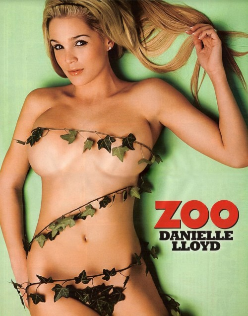 Danielle Lloyd, wrapped in vines.