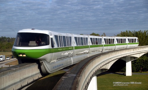The Classic Disney Monorail. Pretty in Green.