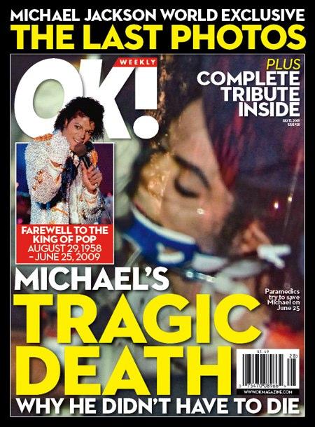 Ok! Magazine Cover of Dead Micheal Jackson