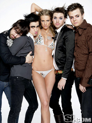 I Never Cared for Panic at the Disco. But the chick is cute.