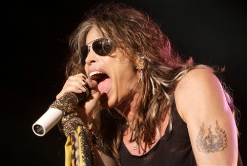 Steven Tyler falls of his rocker in South Dakota.