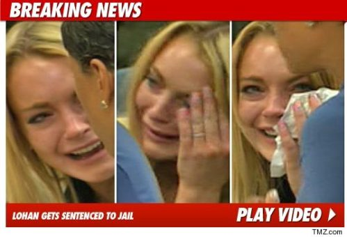 Linsday Lohan Goes to Jail